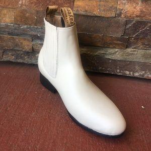 Men's Half boot Bone Charro Botin Black Napa Leath